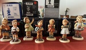 "LOT OF 7 Goebel Hummel Collector Club Figurines 3.5"" to 4 3/8"""