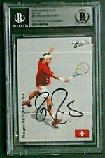 Roger Federer Tennis Pro Signed 2003 NetPro Elite #E3 Autograph ROOKIE Card BAS