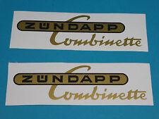 Zündapp Aufkleber Combinette Gold/Schwarz Tank Schriftzug Aufklebersatz Typ 422