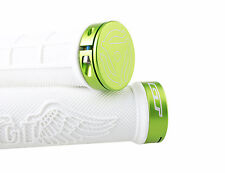 GT Wing Single Lock On Mountain Bike MTB Handlebar Grips/86g/White w/green ring