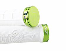 GT Wing Single Lock On Mountain Bike MTB Handlebar Grips/86g/White w/green