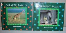Animal Series:  Giraffe Family & Elephant Family Books by Jane Goodall