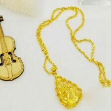 Lucky Royal Necklace Phoenix Pendant Chain Womens 24k Yellow Gold Filled Party