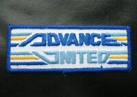"ADVANCED UNITED EXPRESSWAY EMBROIDERED SEW ON PATCH TRUCK ADVERTISING 4"" x 1 1/2"