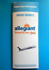 ALLEGIANT AIRLINES SAFETY CARD--MD80