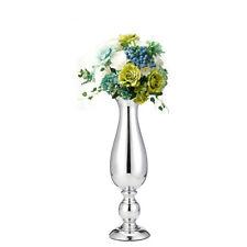 38cm Silver Iron Luxury Flower Vase Large Urn Wedding Table Display Vase