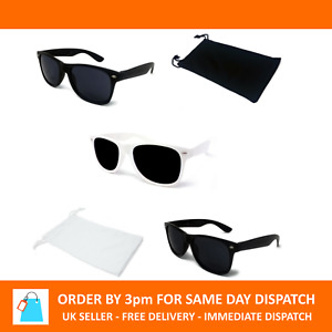 Classic Retro 80s Fashion Wayfare Sunglasses Black White Unisex Mens UV400