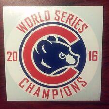 Chicago Cubs Sticker World Series Champions Sticker/Decal