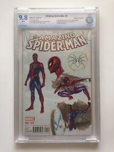 Amazing Spider-man #1 CBCS 9.8 (NM/MT) Alex Ross Design Variant Marvel