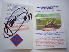 Jamie Whitham signed Limited Edition BT phonecard Yamaha Fast Orange YZF750