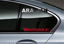 SPORT Vinyl Decal sport car sticker racing sticker window emblem logo RED Pair