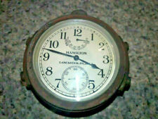 WWII US Navy Hamilton Chronometer 1943 marked Bureau of Ships US Navy with case