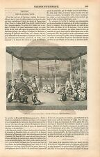 Médersa madrassa Lecture Coran Musulmans à Aoude Inde GRAVURE ANTIQUE PRINT 1854