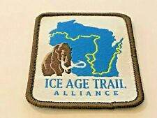 """WISCONSIN, ICE AGE, NATIONAL SCENIC TRAIL, Patch, Nice Colors, 2-1/2"""" x 2-1/8"""""""