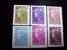 France - 2009 / timbres autoadhésifs / Marianne de Beaujard - série 486 à 491 **
