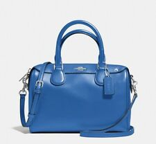 New Coach Mini Bennett Satchel Lapis Blue Leather Handbag RRP$600