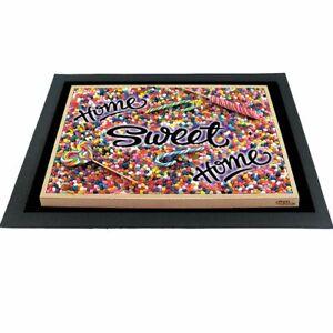 Witzige Fußmatte Candy Home Sweet Home 3D-Motiv bunt 60x40x04 cm Haushalt