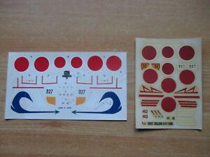 1/72 scale HASEGAWA & TAMIYA MODEL KIT DECALS: NAKAJIMA Ki84 HAYATE (FRANK).
