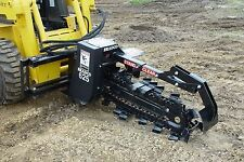 """Bradco,625 Trencher Attachment For Skid Steers Digs 36"""" Deep,6"""" Wide,2 Position"""