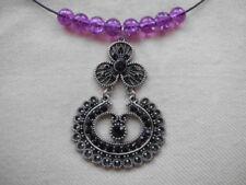 Modeschmuck-Anhänger aus Glas mit Perlen