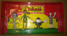 ROCKY BULLWINKLE & FRIENDS 1991  4 PIECE GIFT SET Bend-Ems Figure BENDABLE JESCO