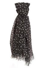 Chan Luu Black & White STARS Soft Cashmere and Silk Scarf Wrap BRH-SC-451 RARE!