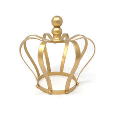 Gold Metal Wire Form Decorative Crown, 7-3/4-Inch
