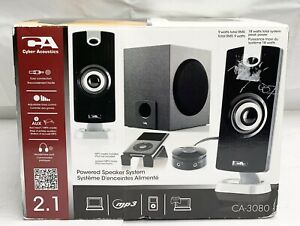 Cyber Acoustics CA-3080 18W Powered 2.1 Speaker System New In Box