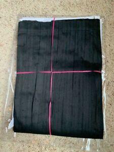 $725! NEW Ann Gish (Neiman Marcus) Big Diamond Black 100% Silk KING Bedskirt
