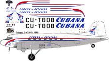 Cubana Douglas C-47 DC-3 decals for Testors Italeri 1/72 scale