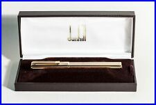 DUNHILL fountain pen 924 Silver Gold Plated w 585 F Montblanc wing nib