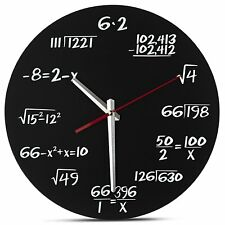 Math Wall Clock - Teacher Equation Stem Unique Home Decor