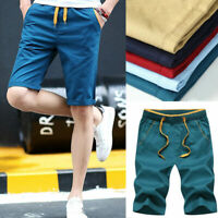 Korean Fashion Men's Casual Shorts Solid Cargo Summer Sports Short Pant Trousers