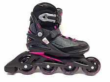 Roces Optic black shocking pink Fitness Inline Skates Gr. 39 -Sale-  Damen