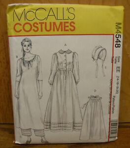 McCall's Pattern M4548 Early American Pioneer Prairie Costume Misses sizes 14~20