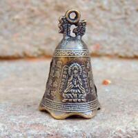 China's Mini Brass Copper Sculpture Pray Buddha Feng shui bell 48*30mm Gift A1L9