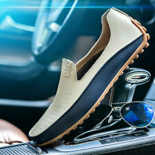Mens Casual Shoes Slip On Loafers Shoes Cowhide Boat Shoes Autumn New Fashion