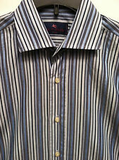 Men's Etro   Size 40   Blue Gray Stripe Long Sleeve Shirt    EUC!  NICE Italy