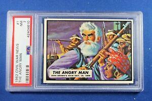"1962 Topps Civil War News - #1 ""The Angry Man"" - PSA NM 7"