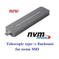 M.2 NVMe PCI-E SSD to Type-C USB 3.1 10Gbps Adapter Card External Enclosure Case