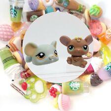 Authentic Littlest Pet Shop Mouse Mice Set # 989 988 Lot + *Suprise Food*