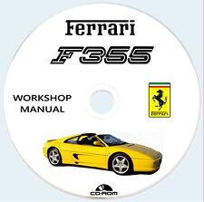 Workshop Manual,FERRARI F355,F355 F1 manuale Istruzioni Riparazioni Ricambi
