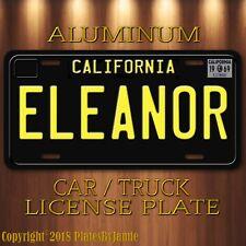 ELEANOR Steve McQueen's 1968 Mustang BULLITT Prop Aluminum License Plate New