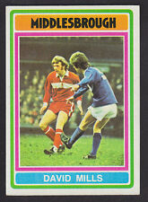 Topps - Footballers (Blue Back) 1976 - # 315 David Mills - Middlesbrough