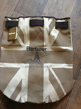 Barbour Beige Darton Printed Canvas Backpack - Brand New With Tags