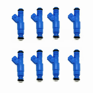 8 x Upgrade EV1 212cc 20LB 4 hole Fuel Injectors 53007809AB for Dodge Jeep 5.2L