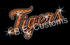 Detroit Tigers Iron-on Glitter Vinyl & Rhinestone Transfer