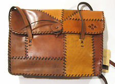Patricia Nash Handbag Patchwork Leather Multi Brown Satchel NEW $299