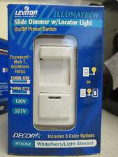 Leviton Decora Fluorescent Slide Dimmer w/ Locator Light  IP710-DLZ