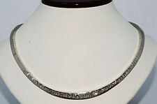 $66,000 8.96Ct Natural Diamond Riviera Necklace 18K White Gold